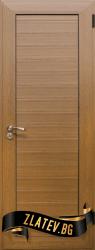 Алуминиева врата за баня, цвят Златен дъб