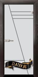 Стъклена интериорна врата Gravur G 13-4 с каса Венге