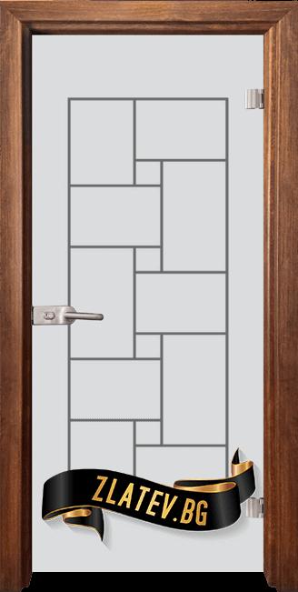 Стъклена интериорна врата Gravur G 13 7 Z