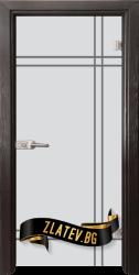 Стъклена интериорна врата Gravur G 13-8 с каса Венге