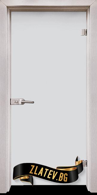 Стъклена интериорна врата Matt G 11 D с каса Перла