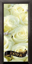 Стъклена интериорна врата Print G 13-6 с каса Златен дъб