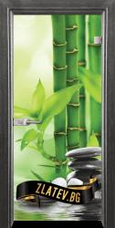 Стъклена интериорна врата Print G 13-9 с каса Сив кестен