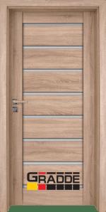 Интериорна врата Gradde Axel Glas, цвят Сибирска Лиственица
