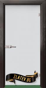 Стъклена интериорна врата Matt G 11 X с каса Венге