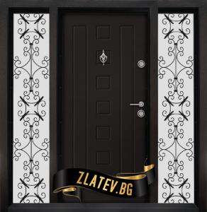 Еднокрилна входна врата T-712 - Цвят Африка