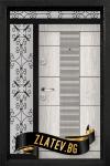Еднокрилна входна врата T-901 - Цвят Арктика