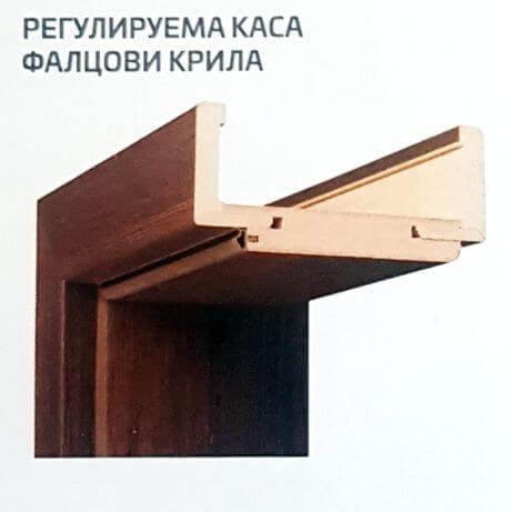 Регулируема каса на интериорни врати
