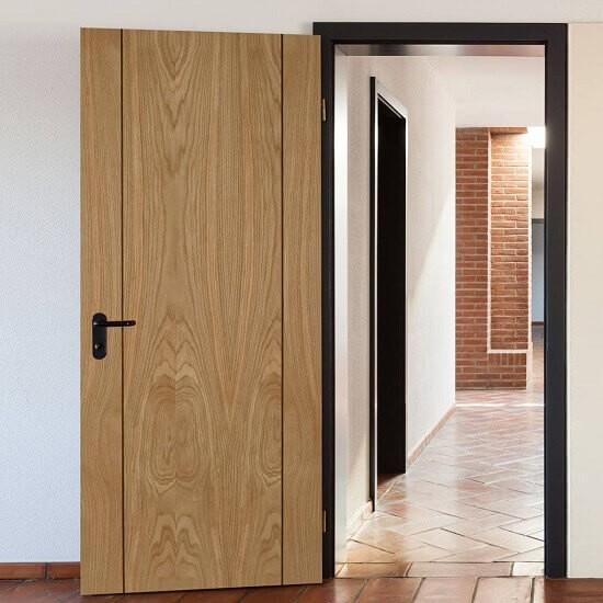 Модерна дървна интериорна врата